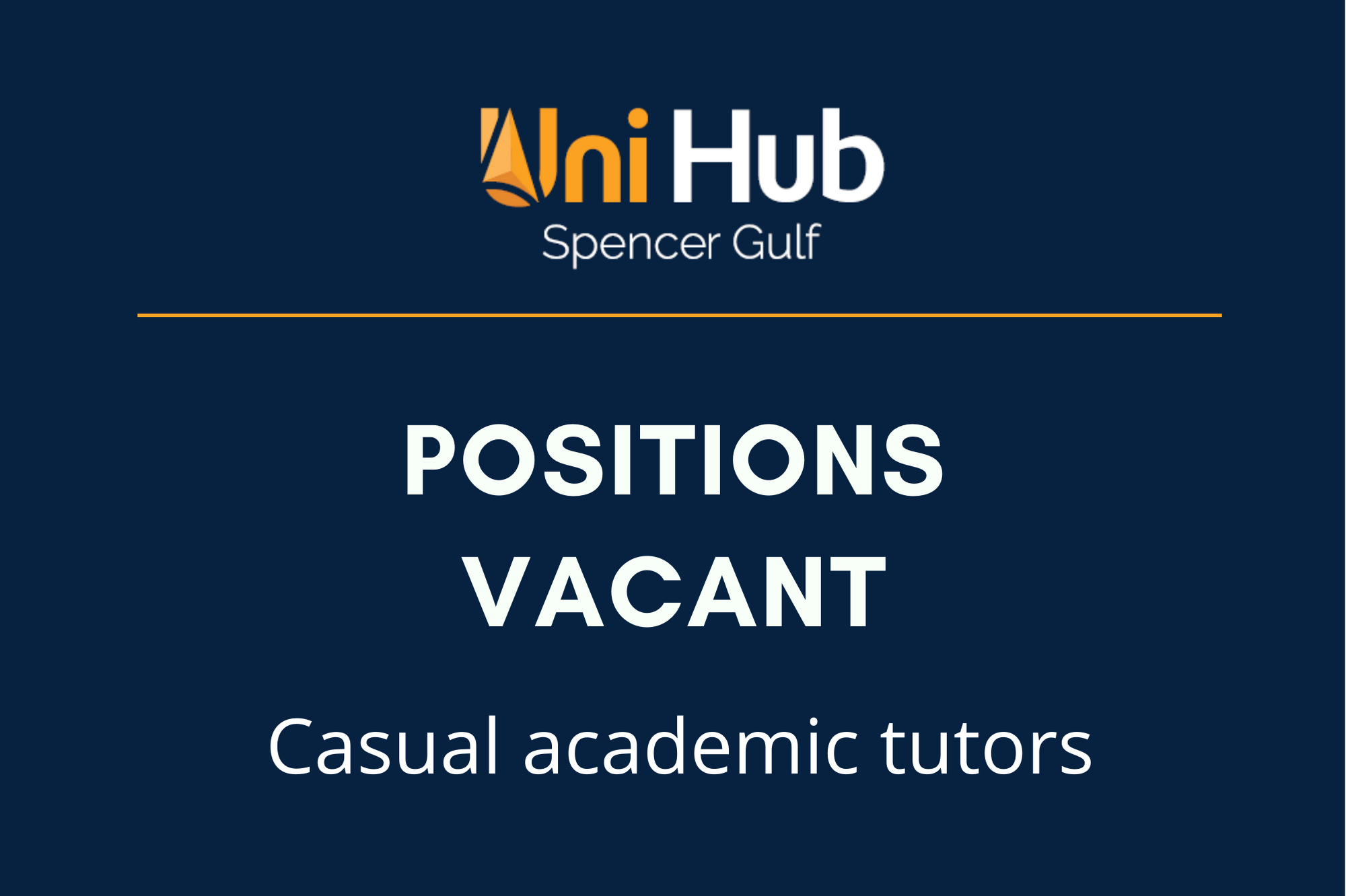 Positions vacant